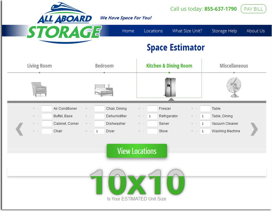 What Size Storage Unit Do I Need  sc 1 st  All Aboard Storage : storage unit size estimator  - Aquiesqueretaro.Com