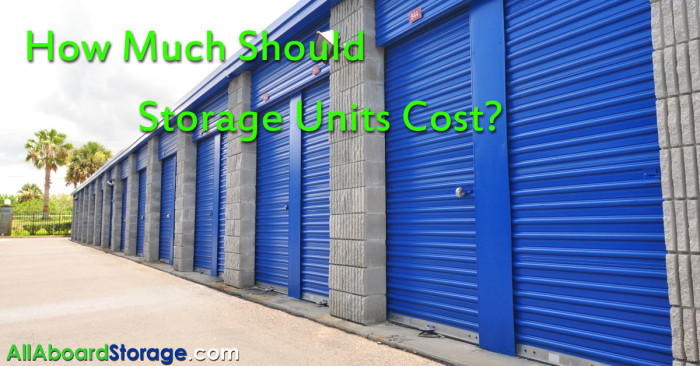 How Much Should & Do Storage Units Cost?