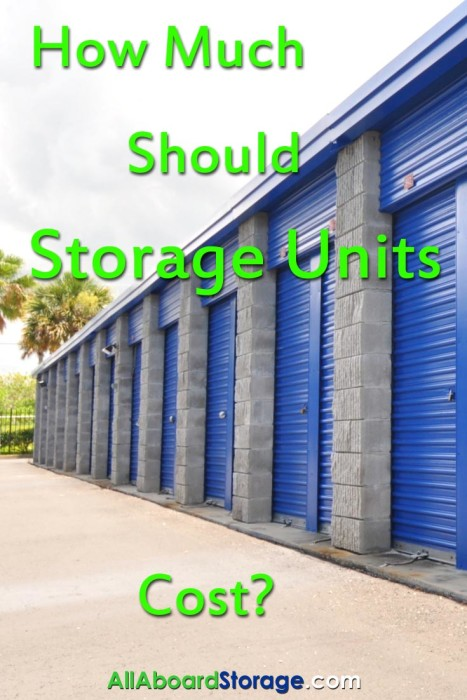 How Much Should & Do Storage Units Cost Vertical
