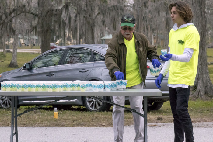 Daytona Beach half marathon volunteers