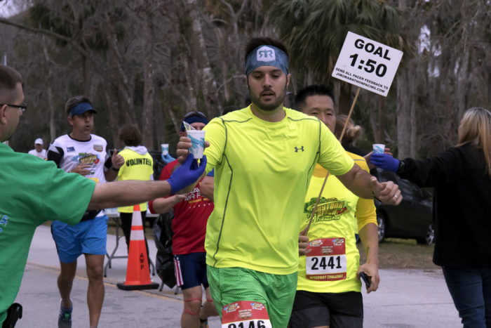 Pace runner at Daytona Beach half marathon