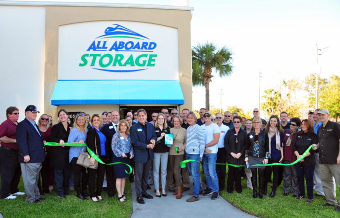 Ribbon Cutting for All Aboard Storage Facility Ormond