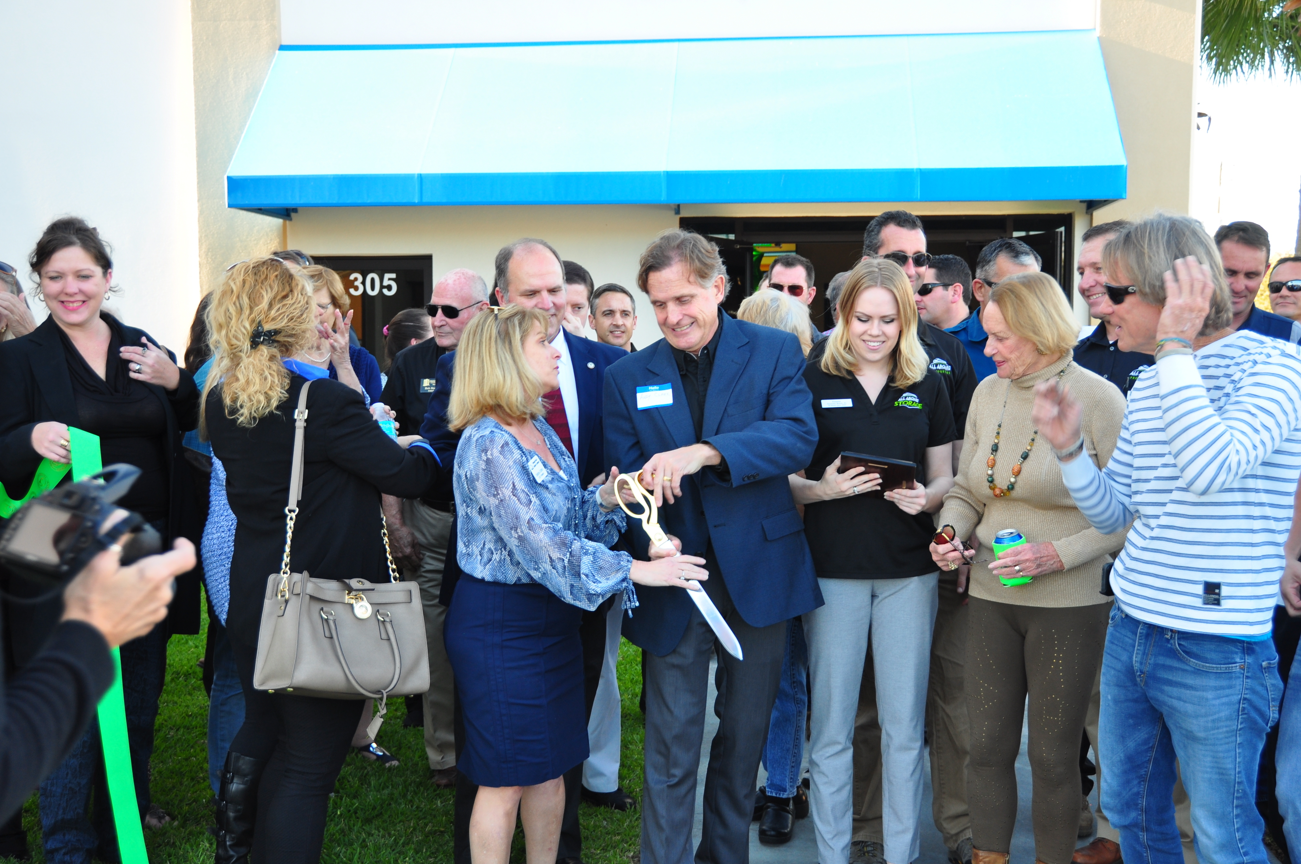 Ribbon Cutting For All Aboard Storage Facility Ormond Granada Self Storage  Facility Ribbon Cutting ...